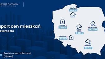 Ceny mieszkań w Polsce – czerwiec 2020 [RAPORT]