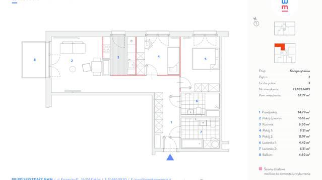 Mieszkaj w mieście - etap Kompozytorów budynek F.
