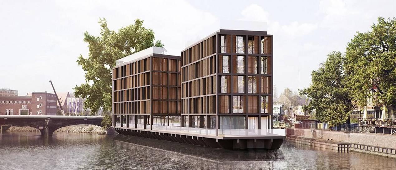 Luksus na rzece: apartamentowiec Marina III rośnie na Odrze