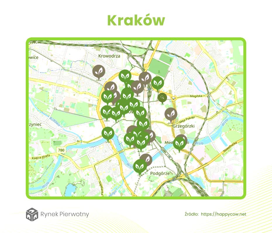 Dzielnice dla wegan Kraków