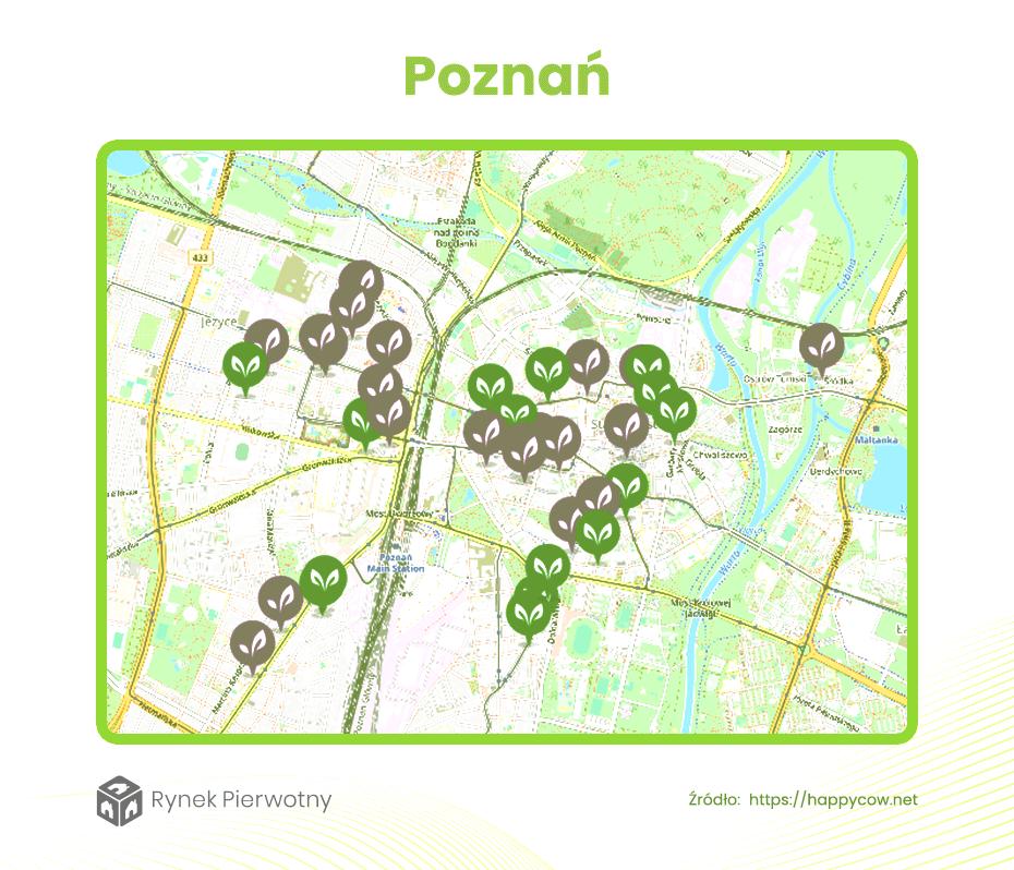 Dzielnice dla wegan Poznań