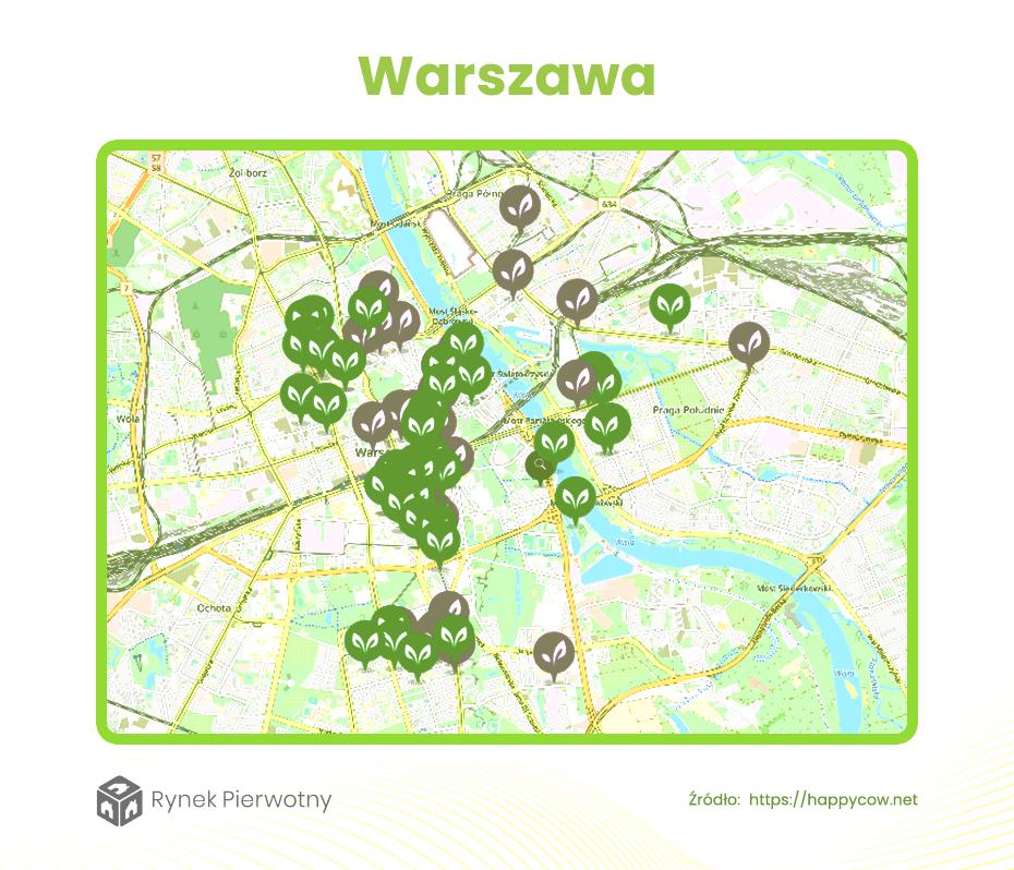Dzielnice dla wegan Warszawa