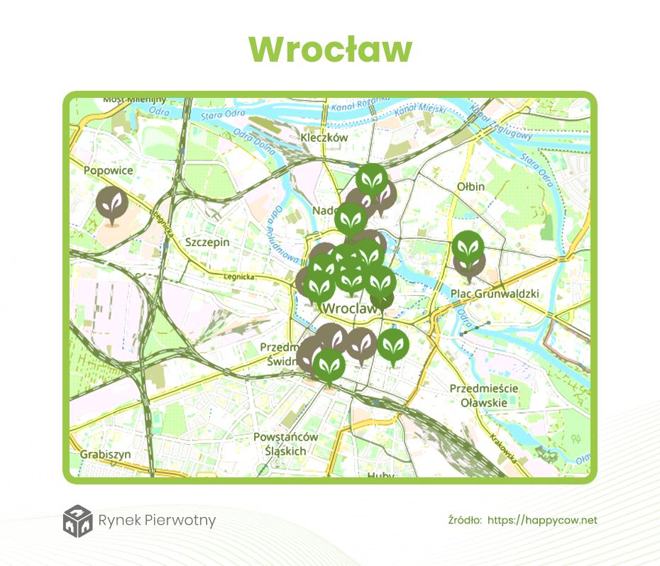 Dzielnice dla wegan Wrocław