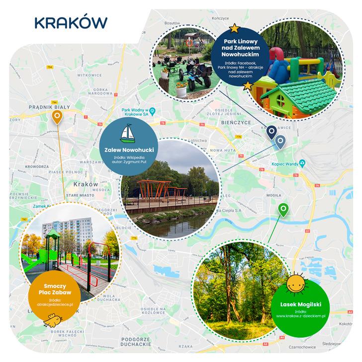 mapa - Kraków przyjazny dzieciom