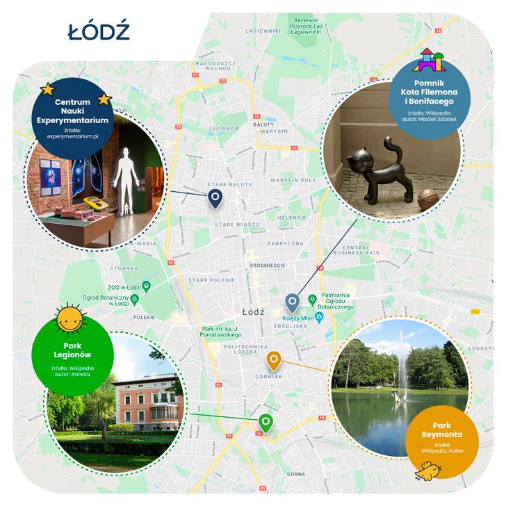 mapa - Łódź przyjazna dzieciom