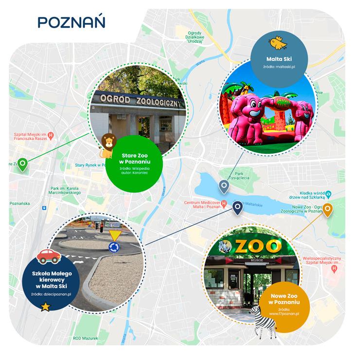 mapa- Poznań przyjazny dzieciom