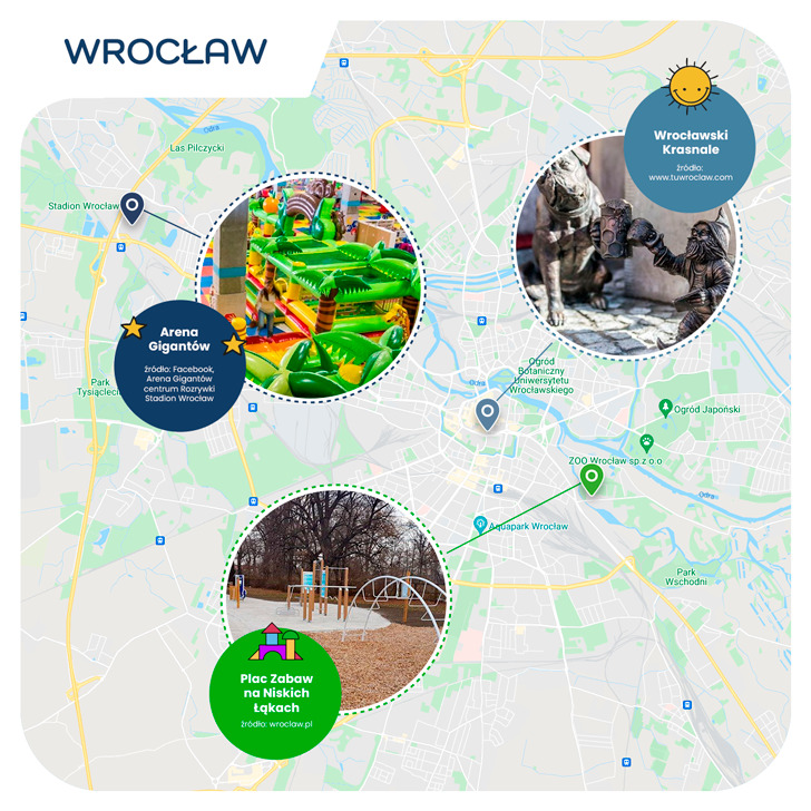 mapa- Wrocław przyjazny dzieciom
