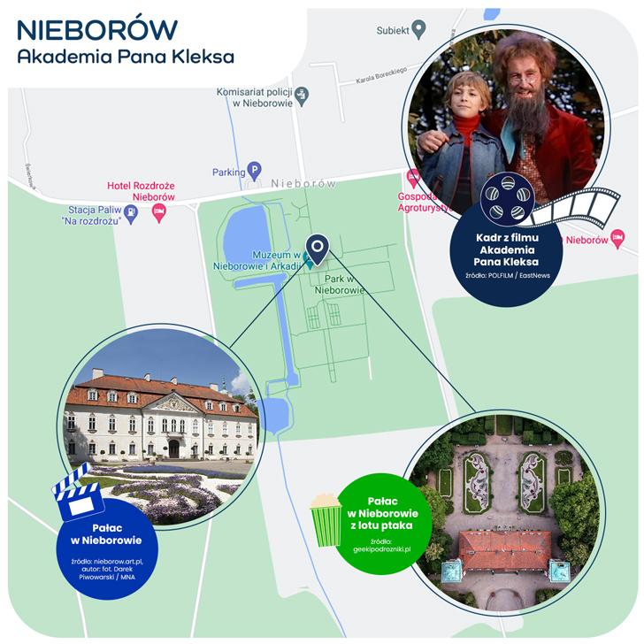 mapka Nieborowa - Akademia Pana Kleksa