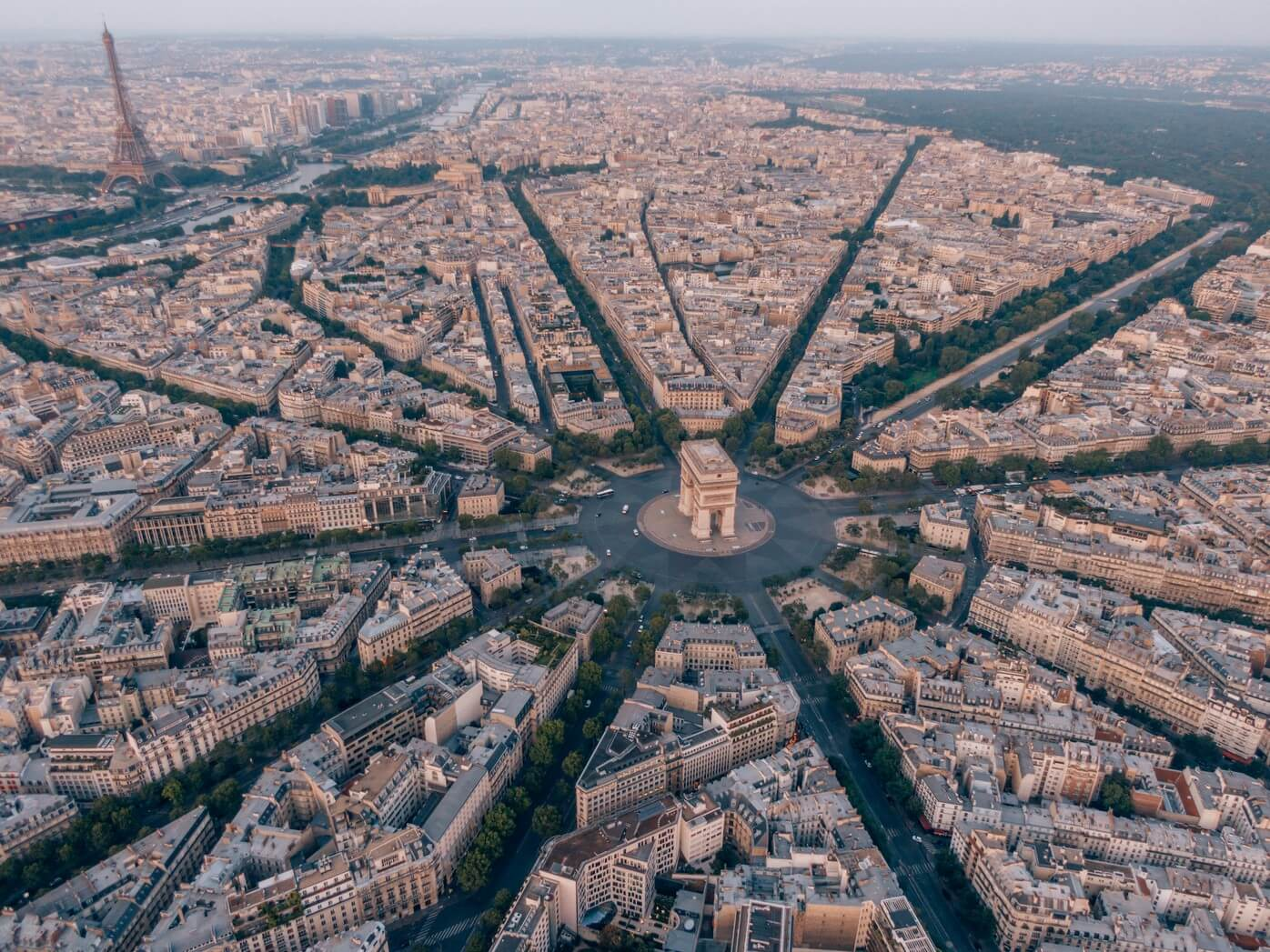 Paryż z lotu ptaka