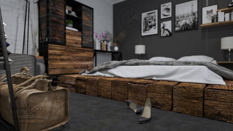 Mała sypialnia w bloku - dodatki