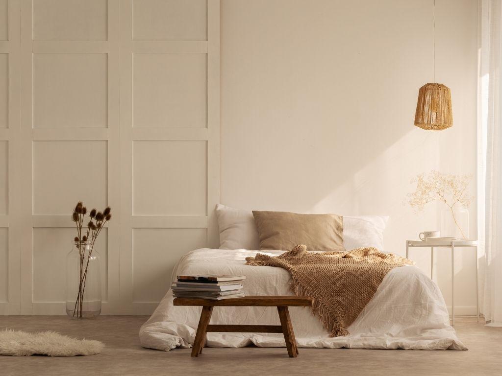 Kolory ziemi w sypialni