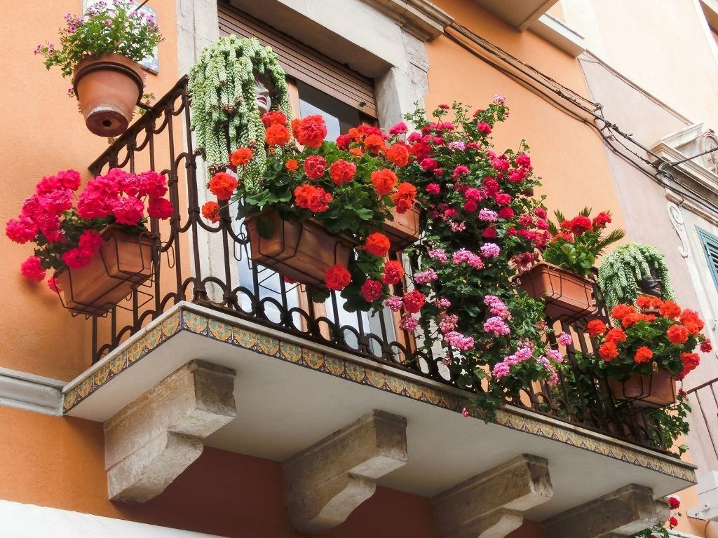 zaaranżowany balkon