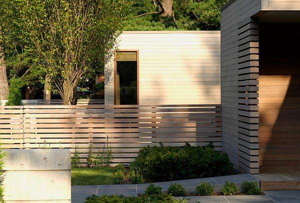 drewniane nowoczesne ogrodzenie