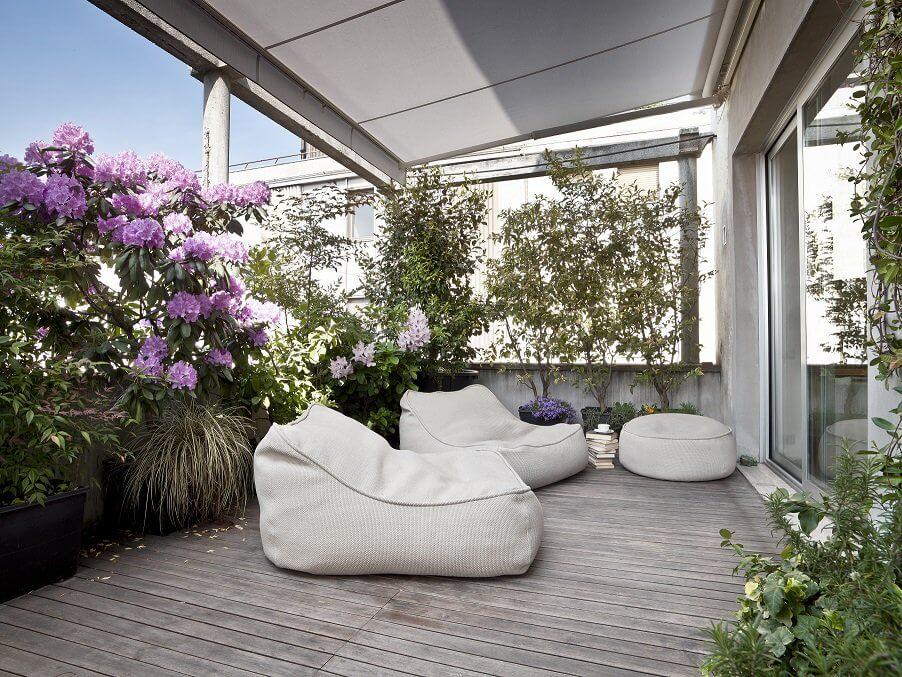 siedziska na balkonie