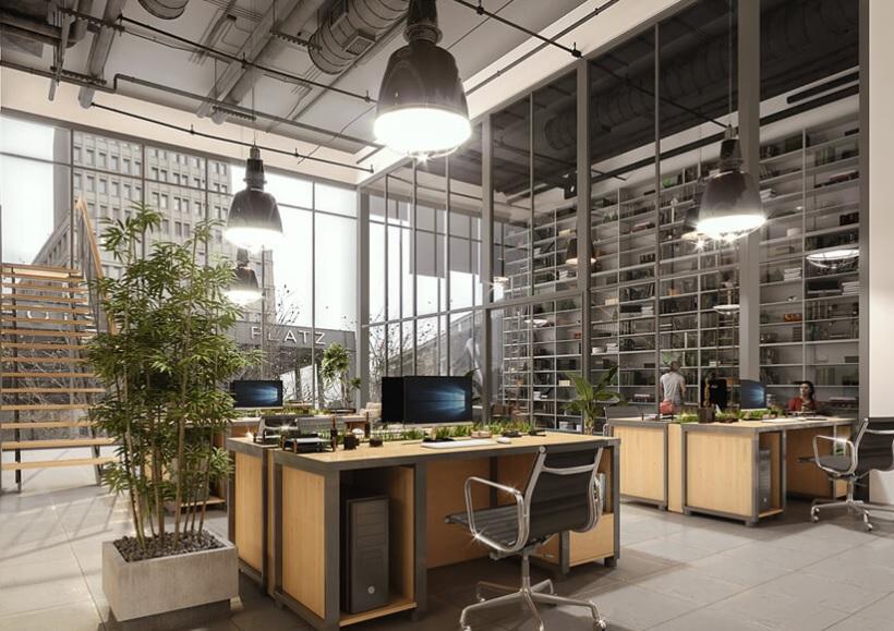 wiszące lampy w stylu industrialnym
