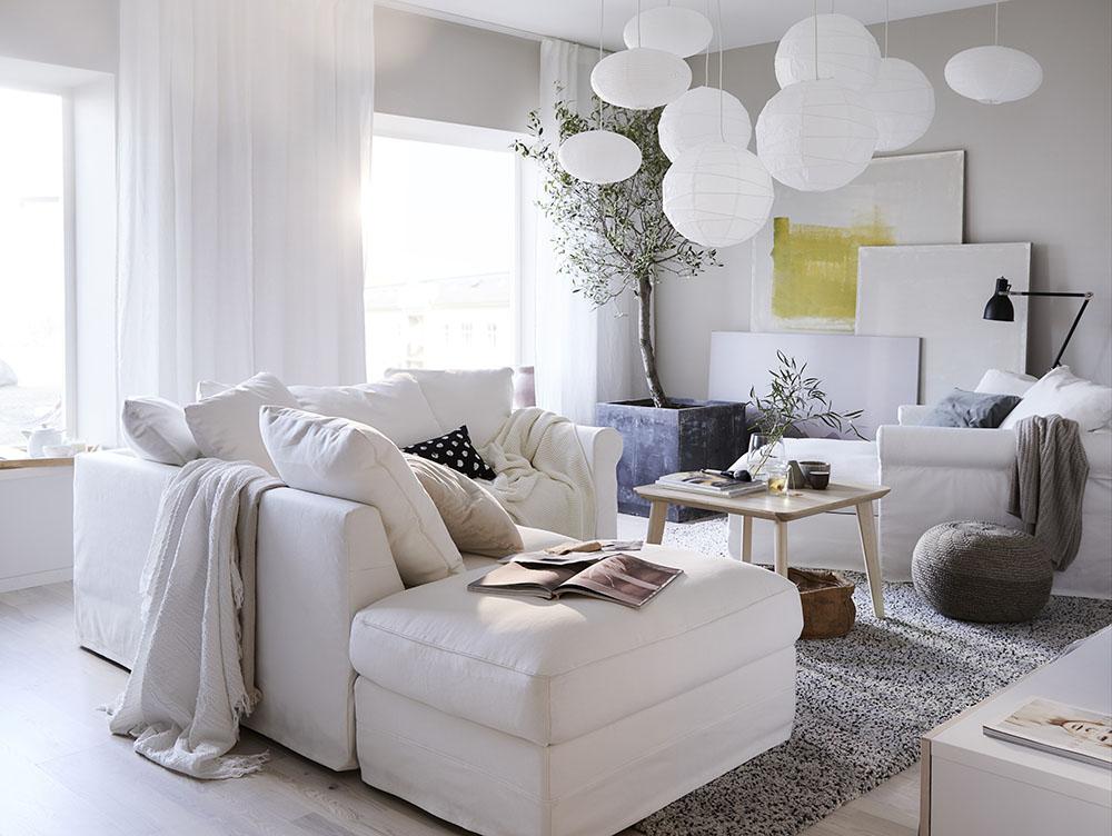 Salon - styl nowoczesny rynekpierwotny.pl IKEA