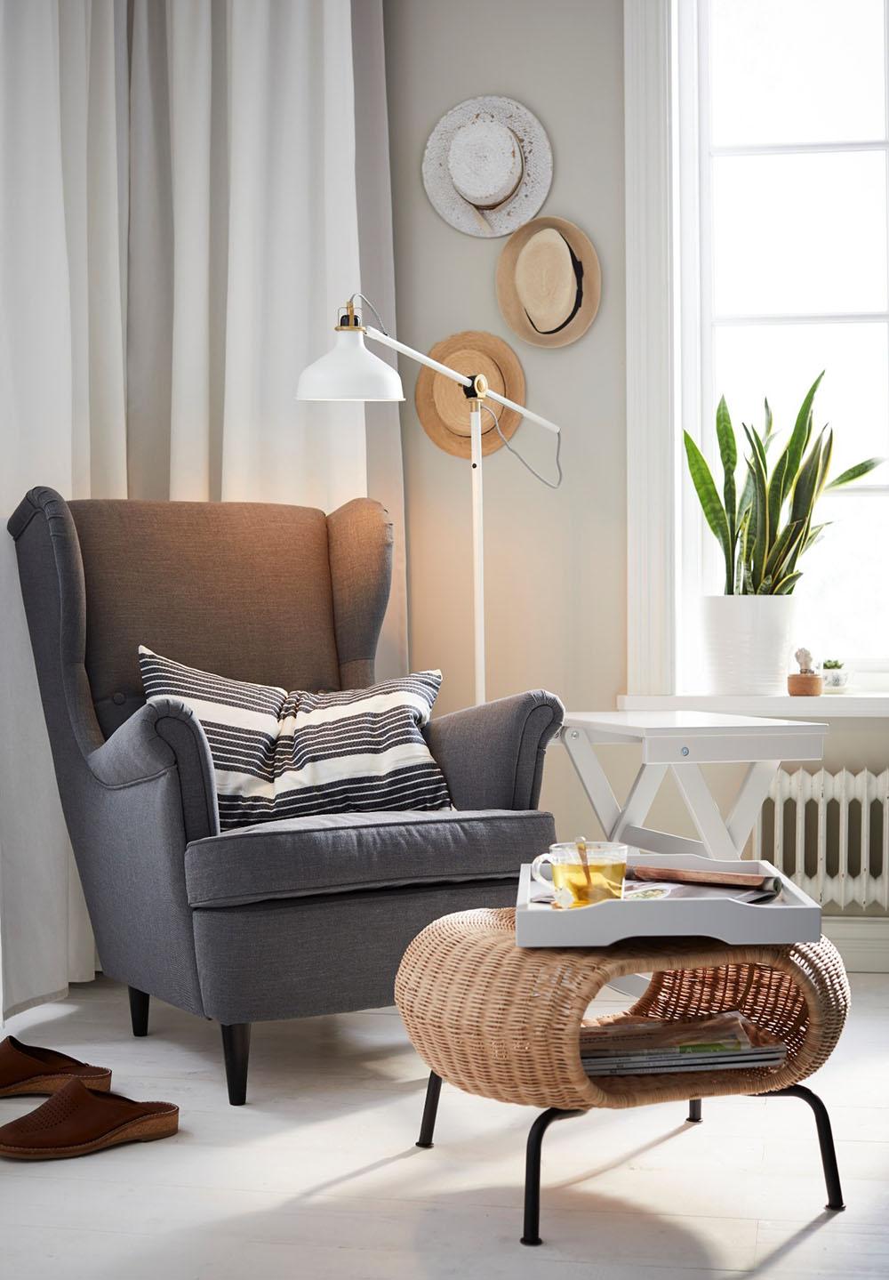 Fotel – styl skandynawski rynekpierwotny.pl IKEA